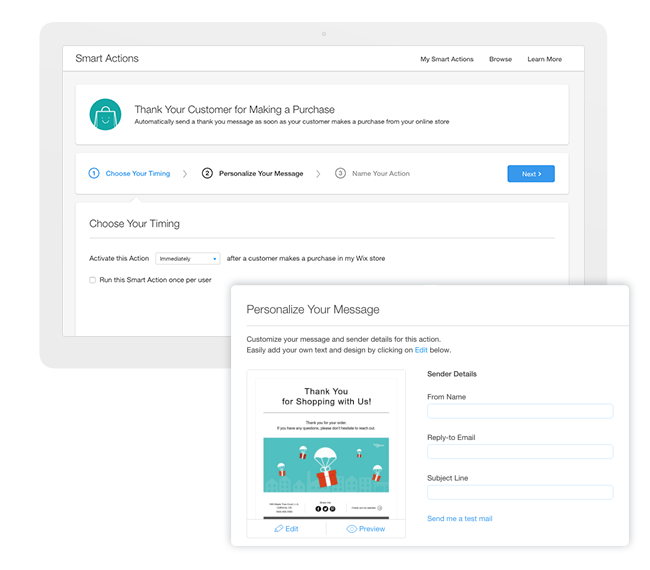 Create automated emails