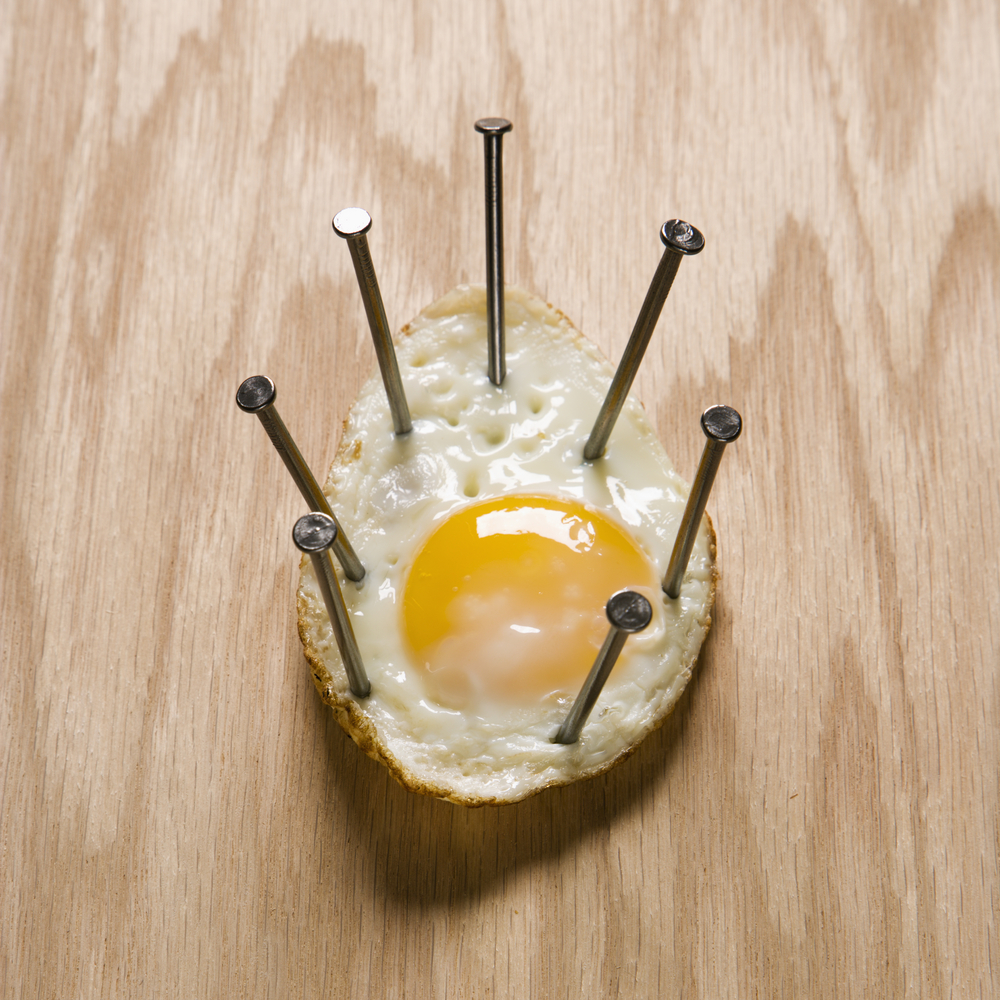 Weird stock photo: fried egg