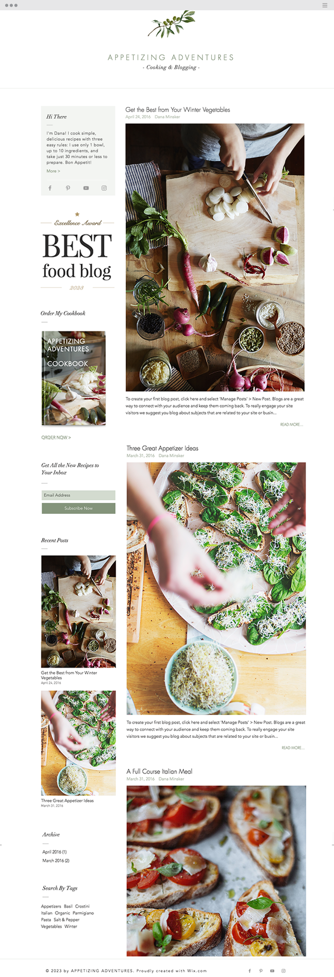 Recipes Blog Website Template_site