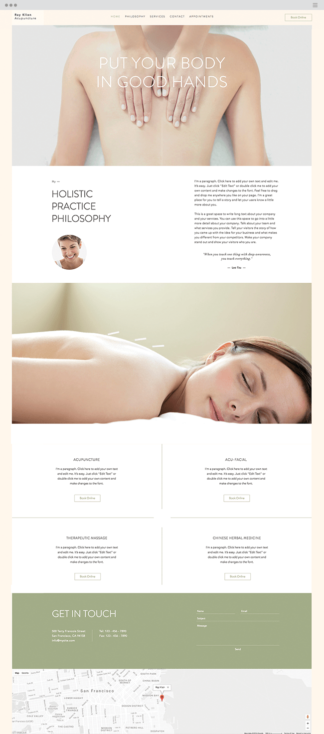 acupuncturist website template
