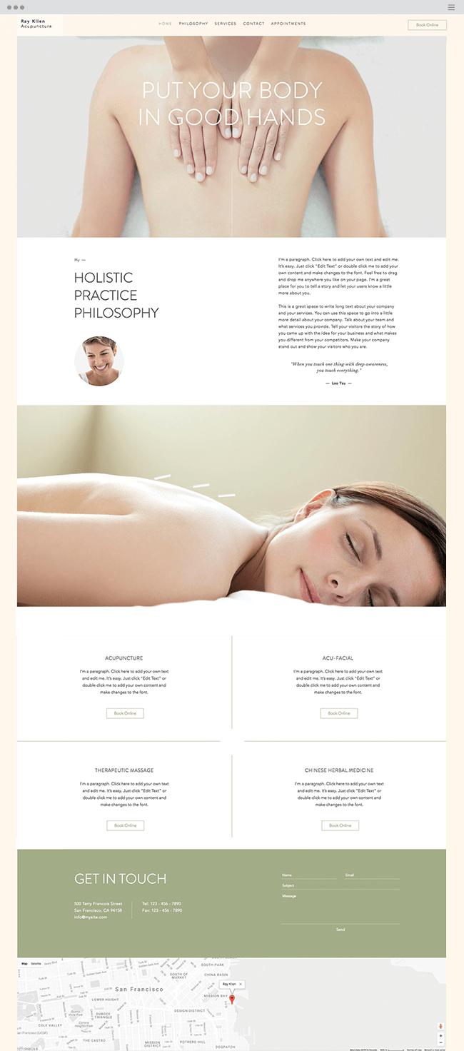 acupuncturist website template