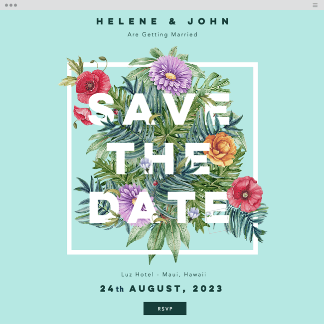 Save the Date Website Template WIX