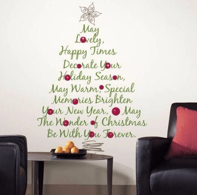 christmes tree typography