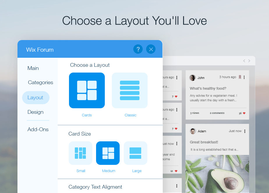 Choose a Layout You'll Love