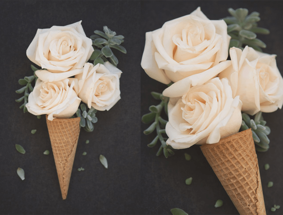 Ice cream flower
