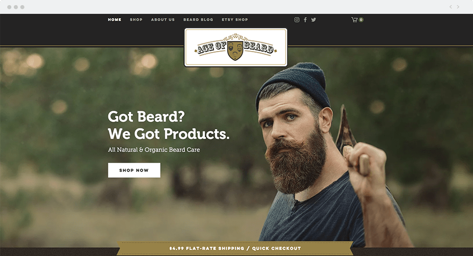 Age of Beard website