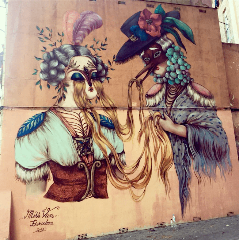 Beautiful street art found in Barcelona