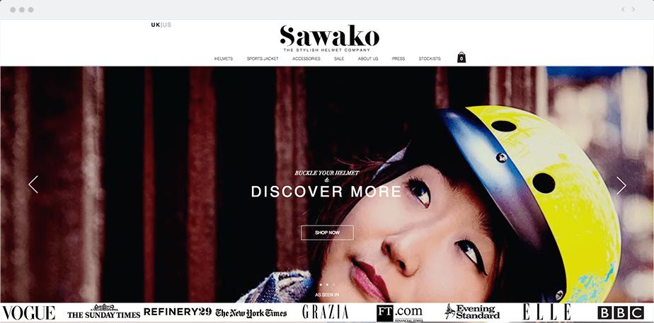 Sawako Helmets website
