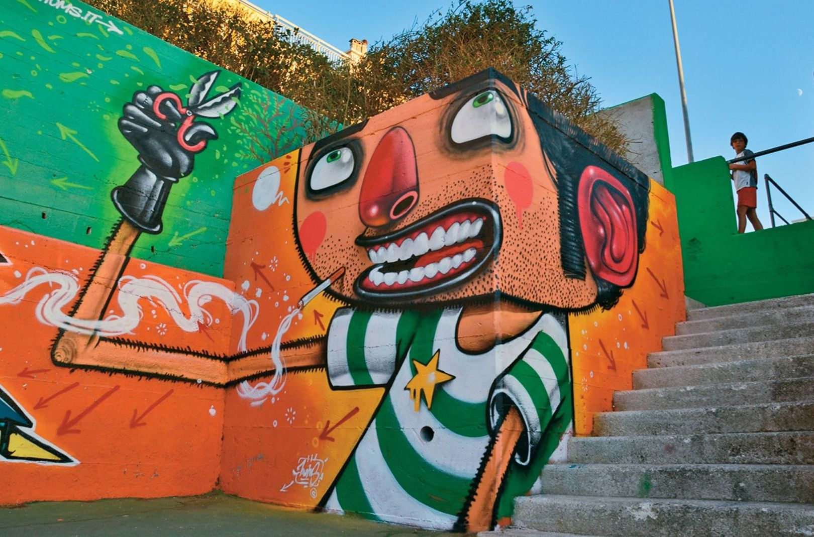 Italian graffiti artist Mr Thoms