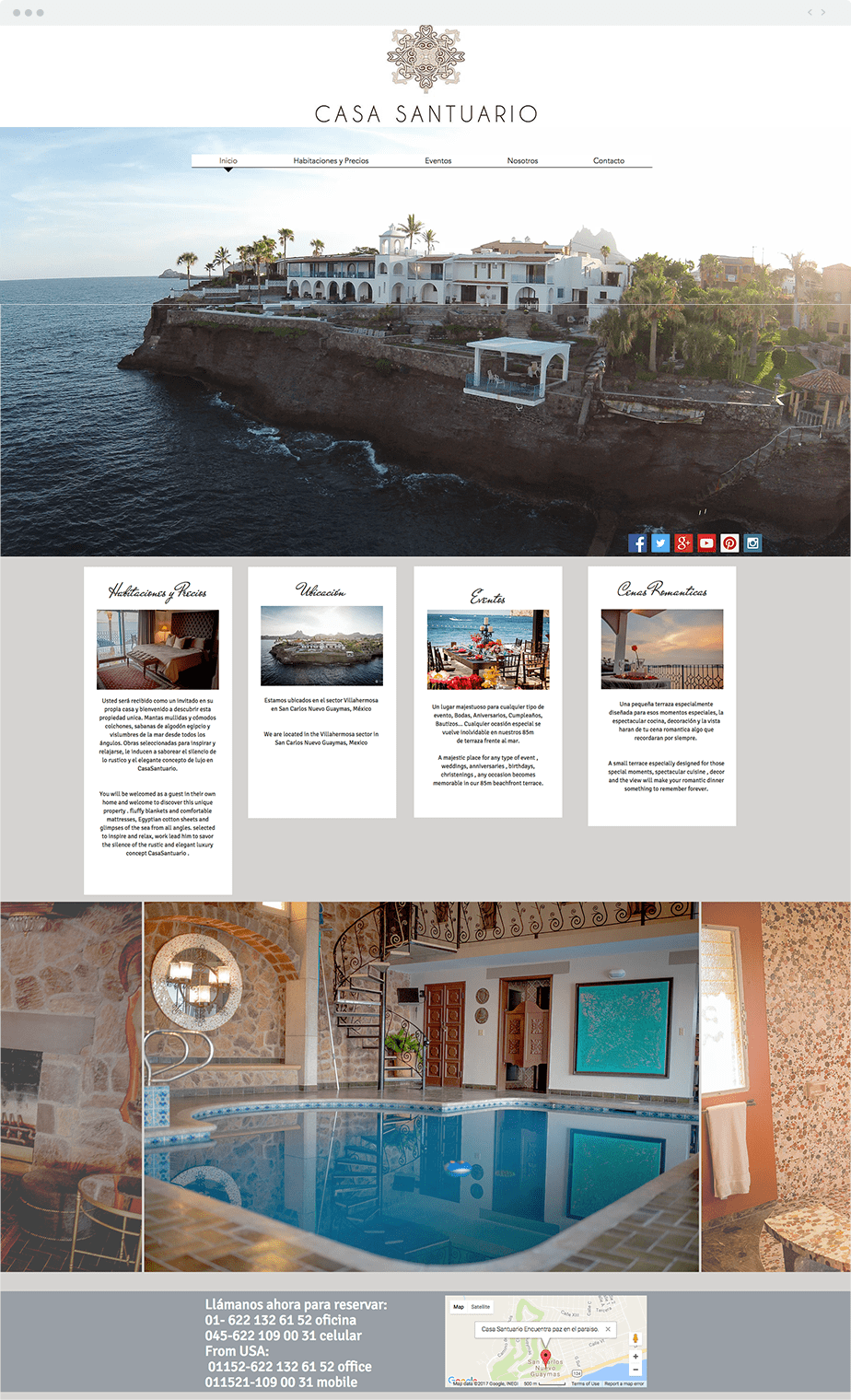 Wix Website: Casa Santuario