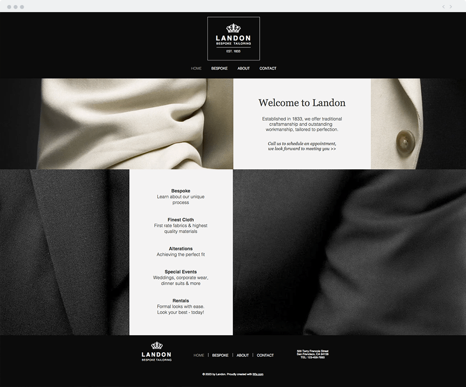 Tailor Shop template
