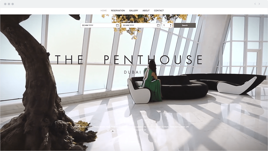 Wix Site: The Penthouse Dubai