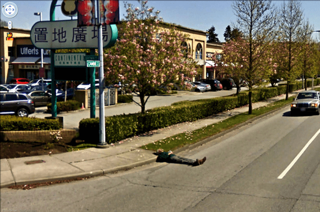 Weird Google Street View: Cloud Watching