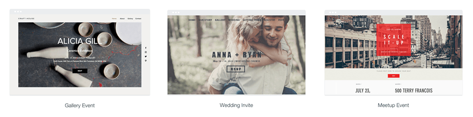 Wix Events Template