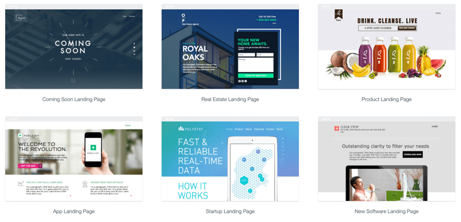 Wix Landing Page Website Templates