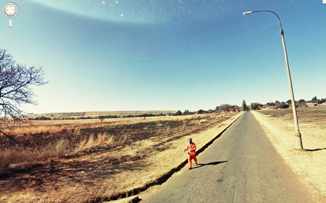 Weird Google Street View: Escaped Prisoner