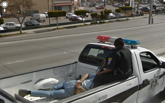 Weird Google Street View: Arrested Man