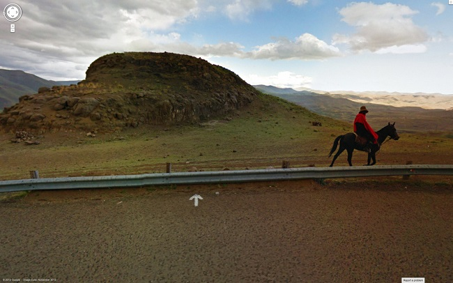 Weird Google Street View: Road to Nowhere