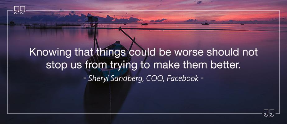 Sheryl Sandberg, COO Facebook Entrepreneur Quotes