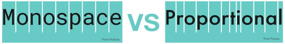 Monospace VS Proportional