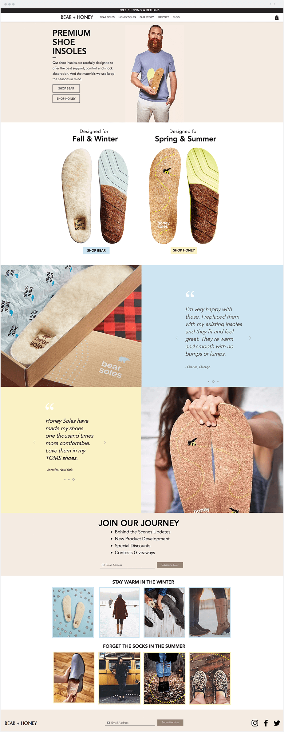Wix unique business ideas - Bear and Honey