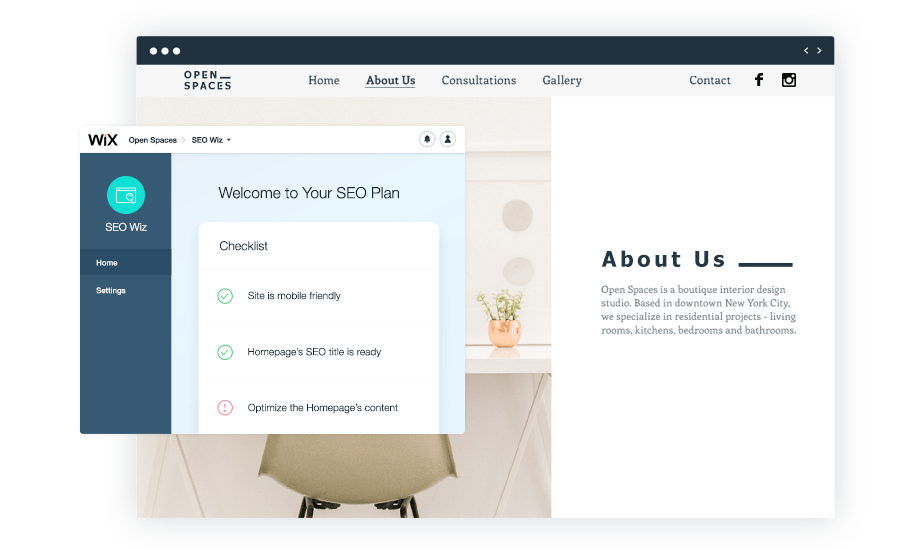 Your Seo Plan Created with Wix SEO Wiz