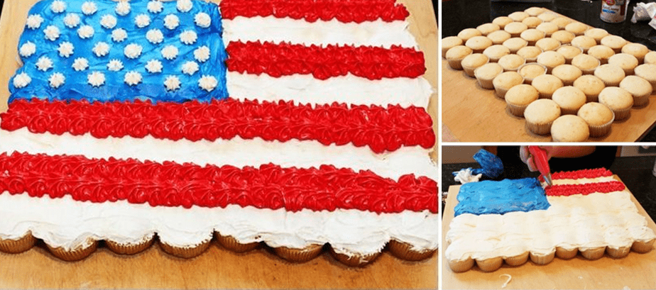 DIY July 4th Cupcakes