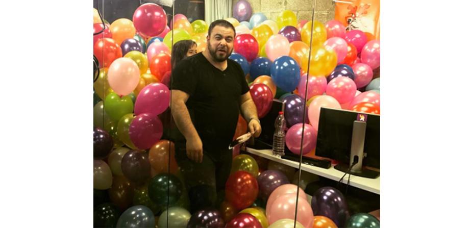 Balloon office prank