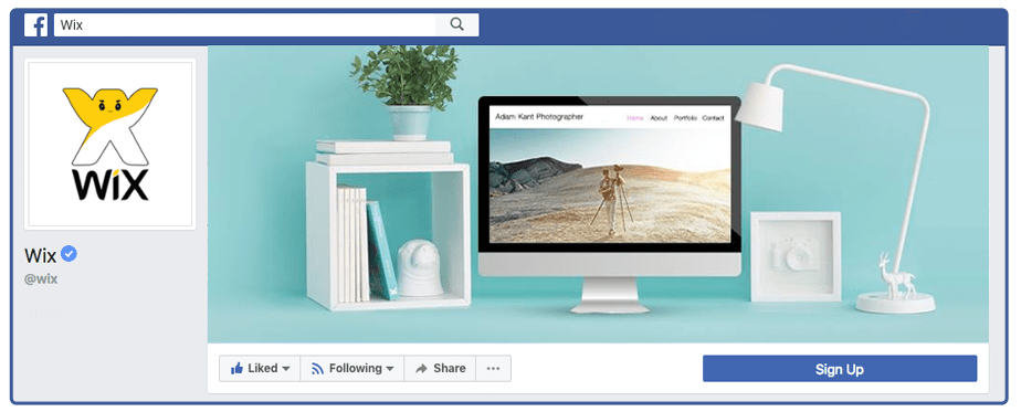 Wix.com Facebook