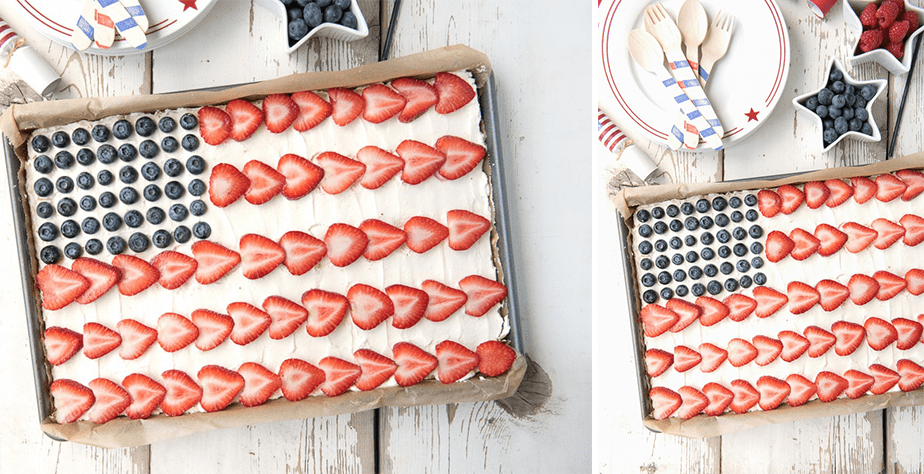 American Flag Fruit Dessert