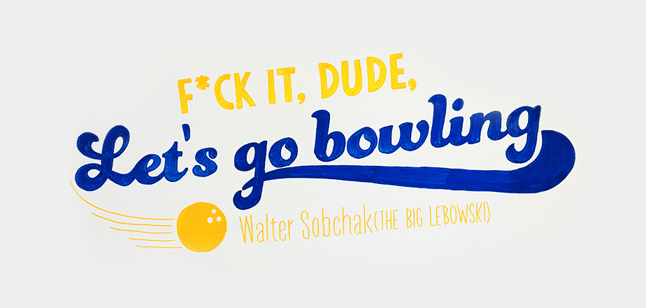 Wix Office Art - Big Lebowski Quote