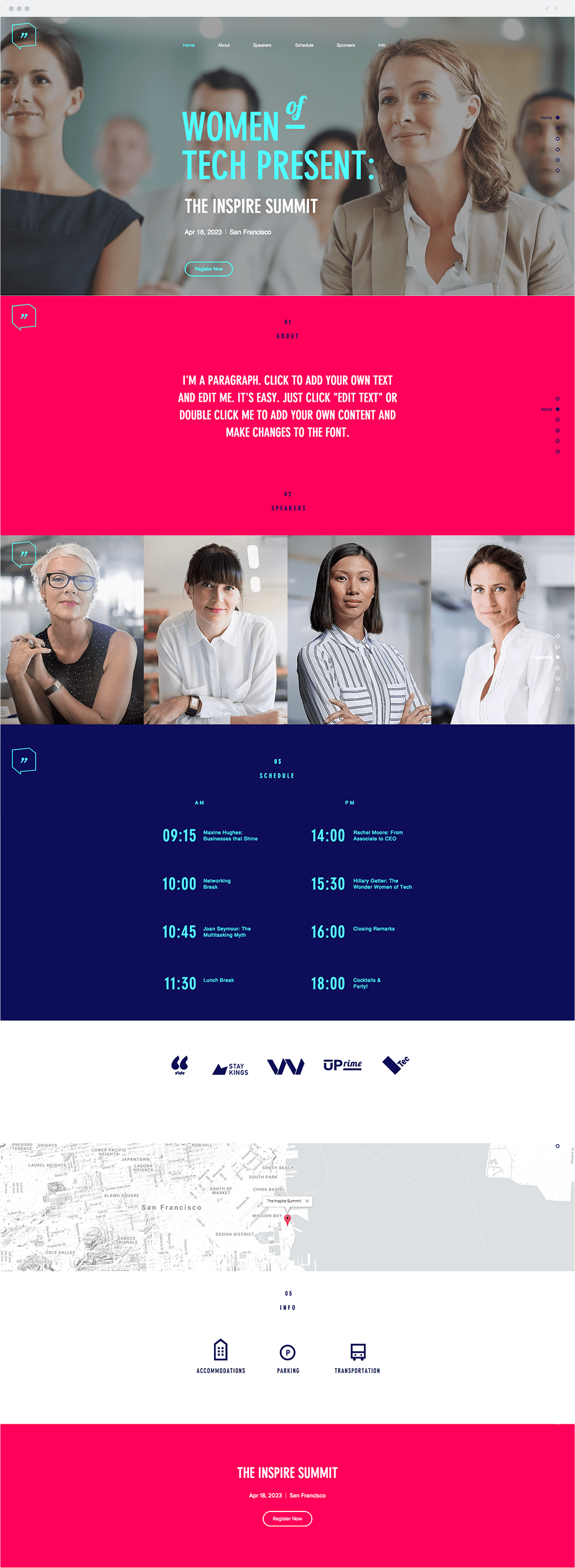 Wix Template - Women of Tech Conference
