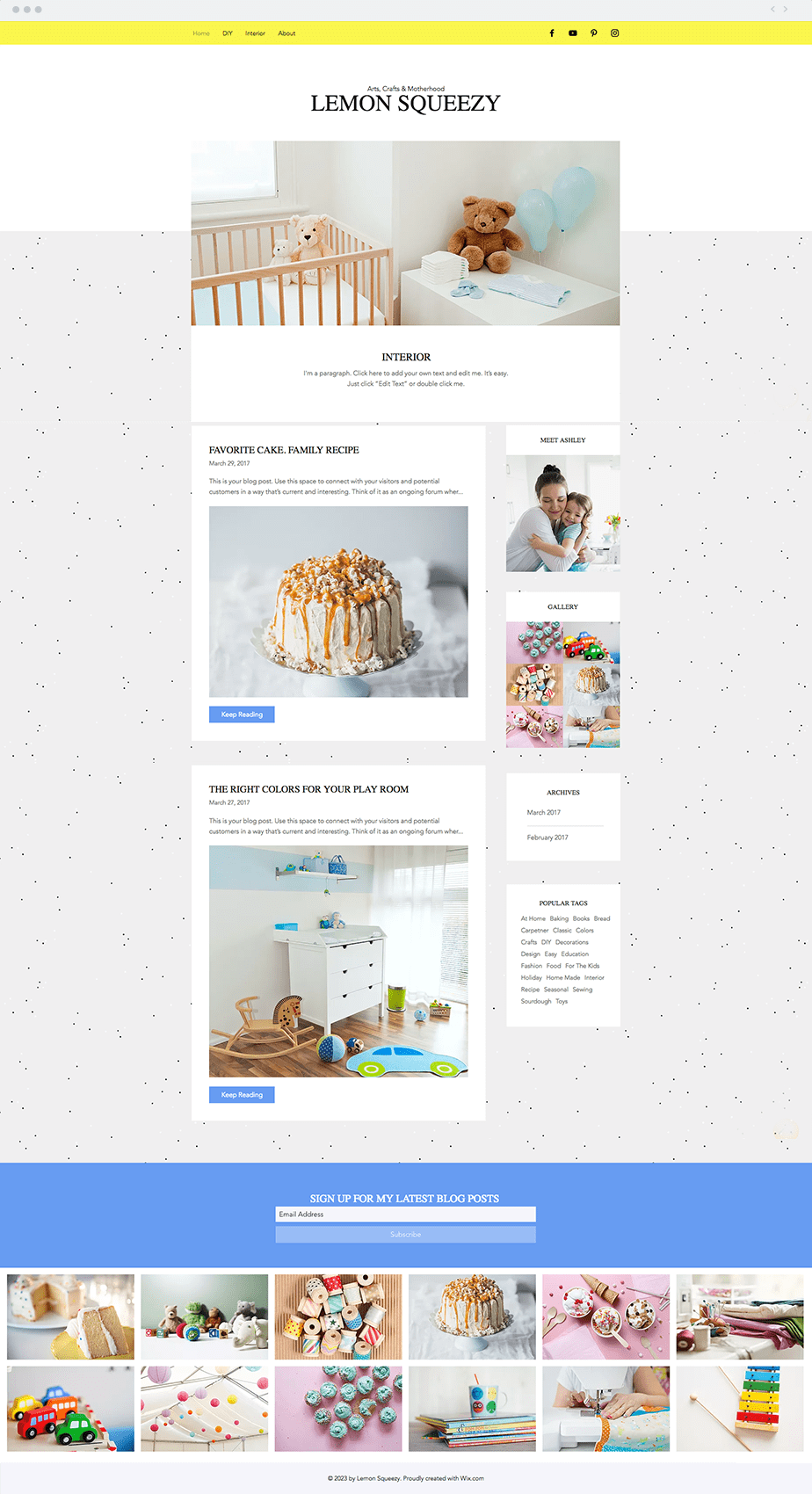 Wix Template - DIY Blog