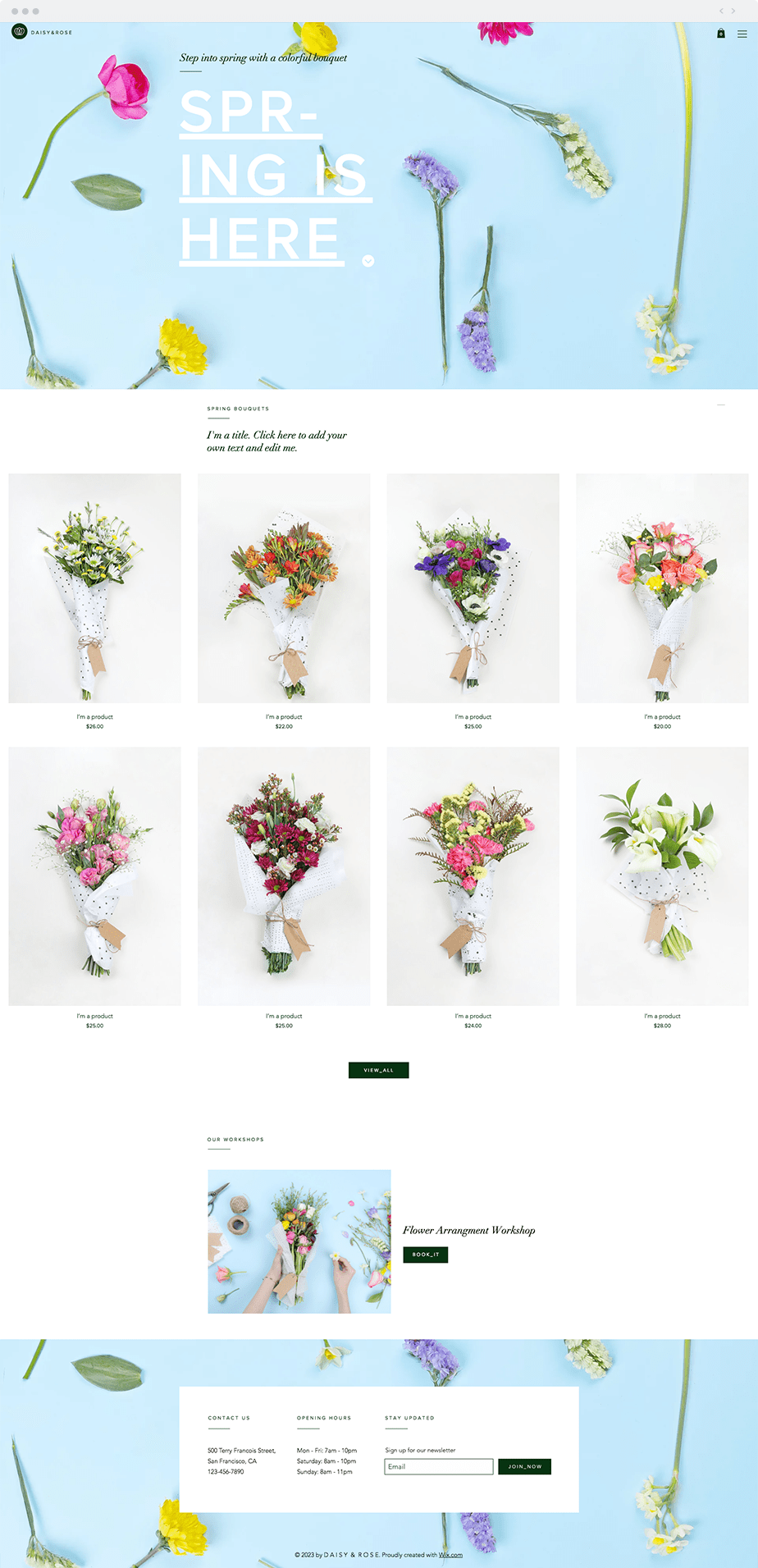 Wix Template - Flower Shop
