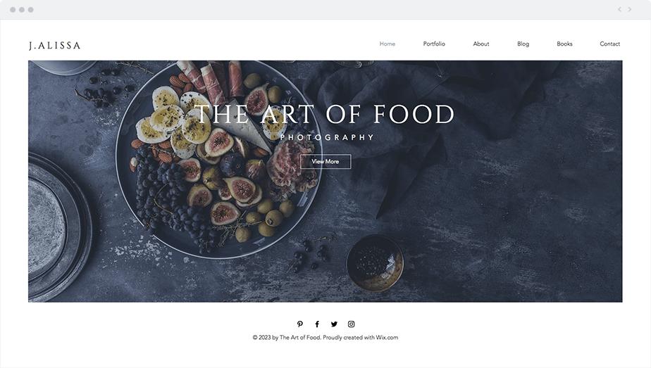 Wix Template - Food Photographer