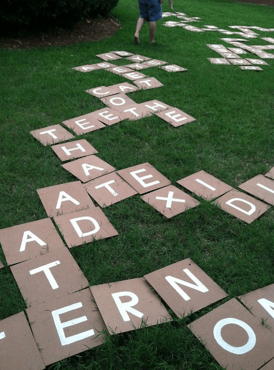 DIY scrabble game labor day activities