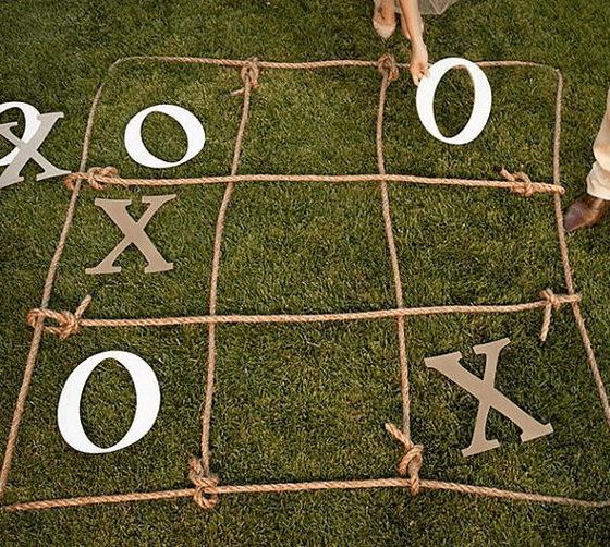 tic tac toe lawn game labor day activities