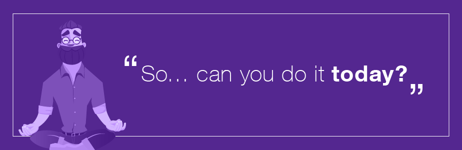Designer problems - can you do it today?