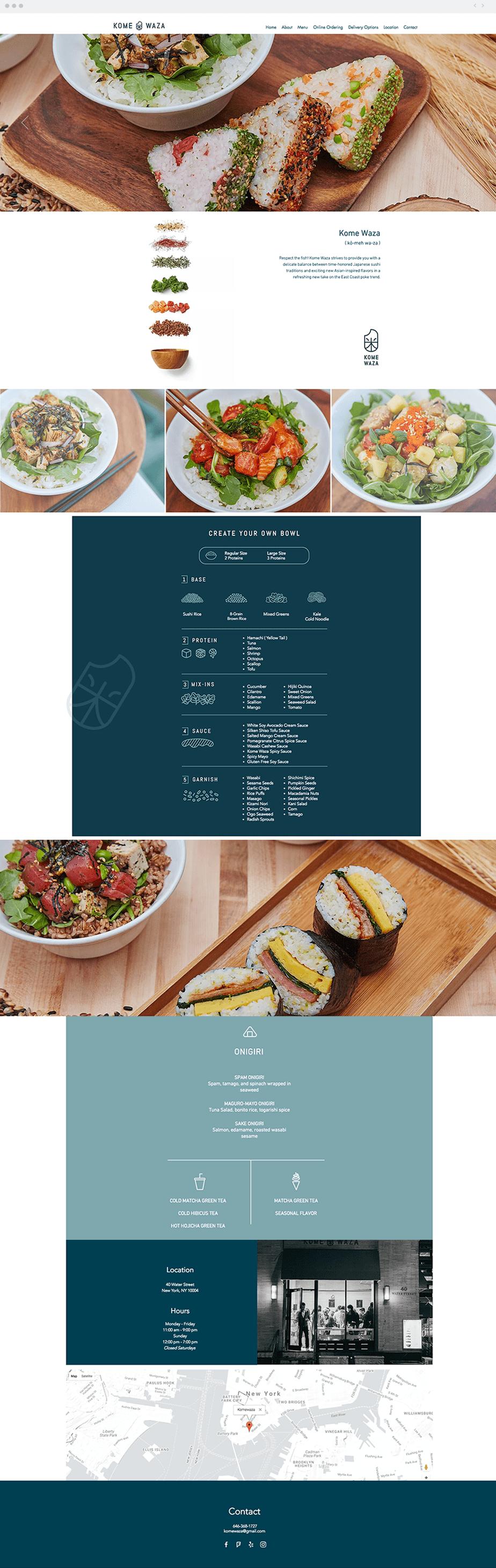 Restaurant Website - Kome Waza