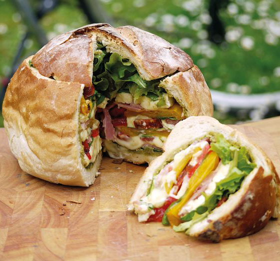picnic food ideas: stuffed loafs for your labor day picnic
