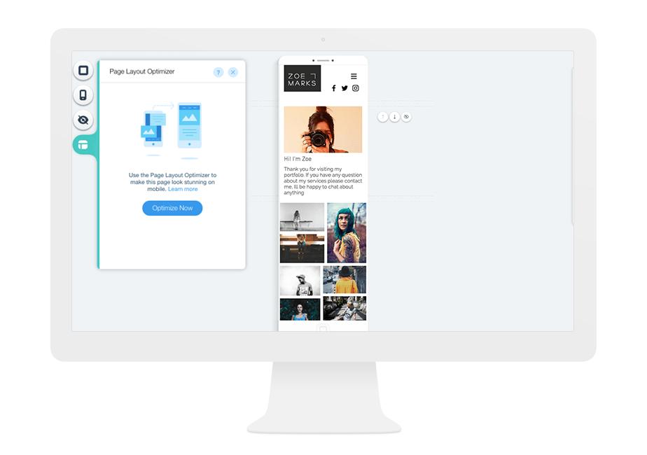 Mobile optimized layout