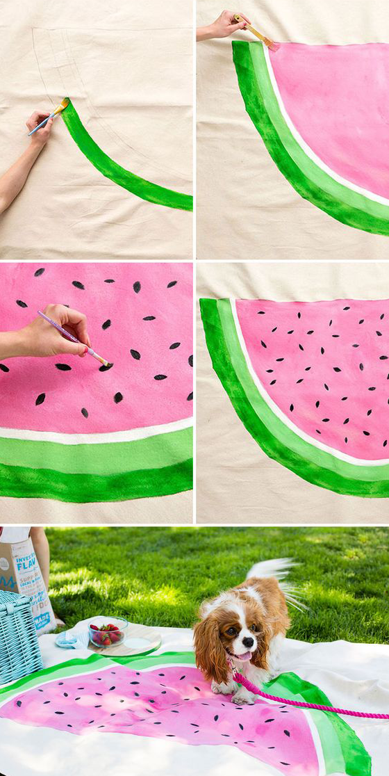Watermelon picnic blanket for labor day