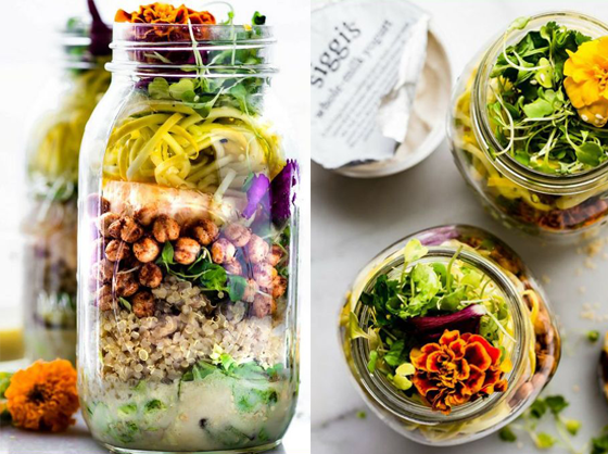 Mason jar salad picnic food ideas for labor day