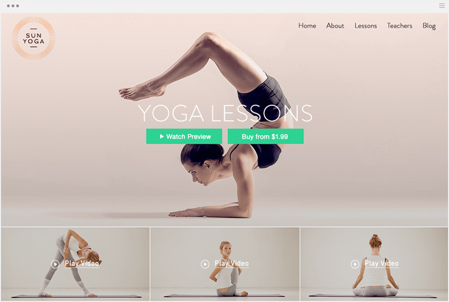 Yoga with Wix Video
