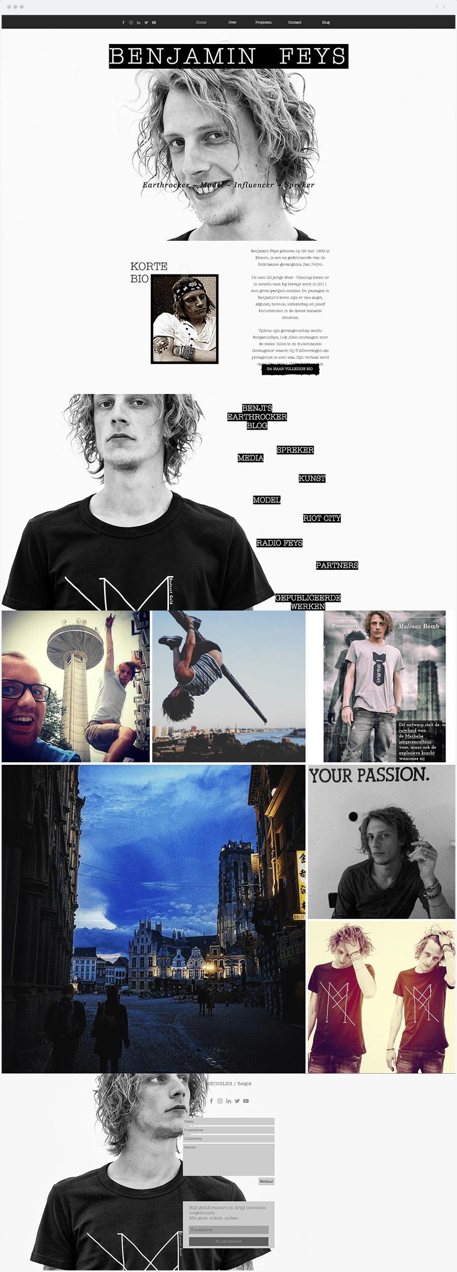 Wix Website - Modeling Portfolio of Benjamin Feys
