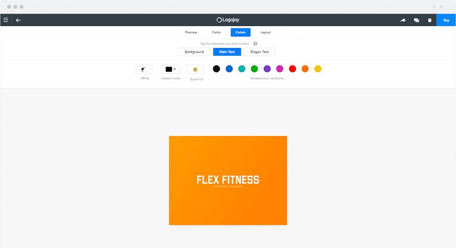 "Create a logo using ""Logojoy"""