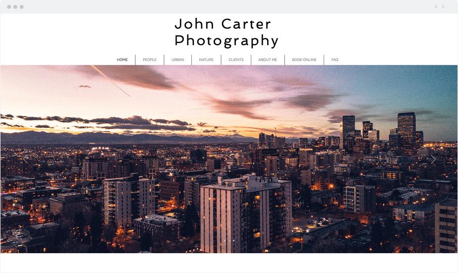 Wix Bookings Website: John Carter Photography