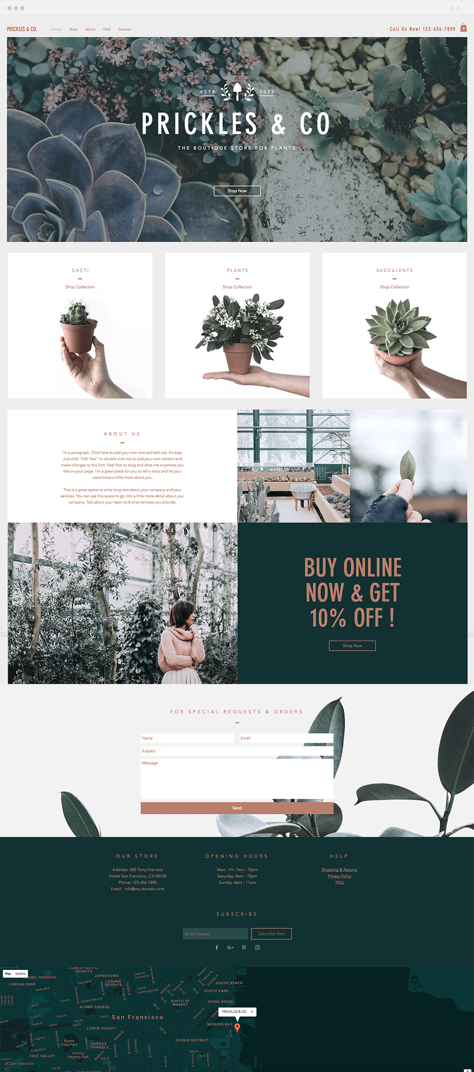 Wix Store Plant Store Template