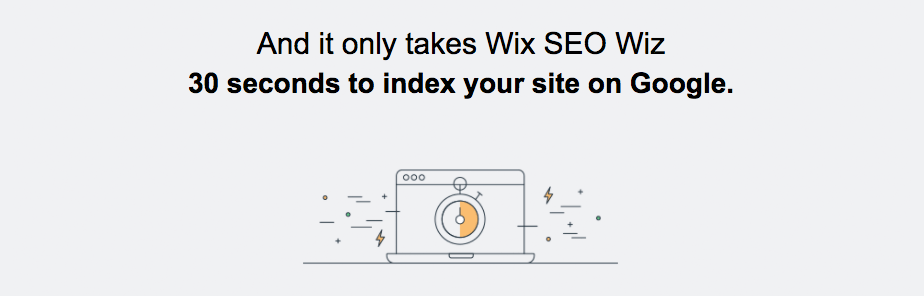 30 seconds to index your site