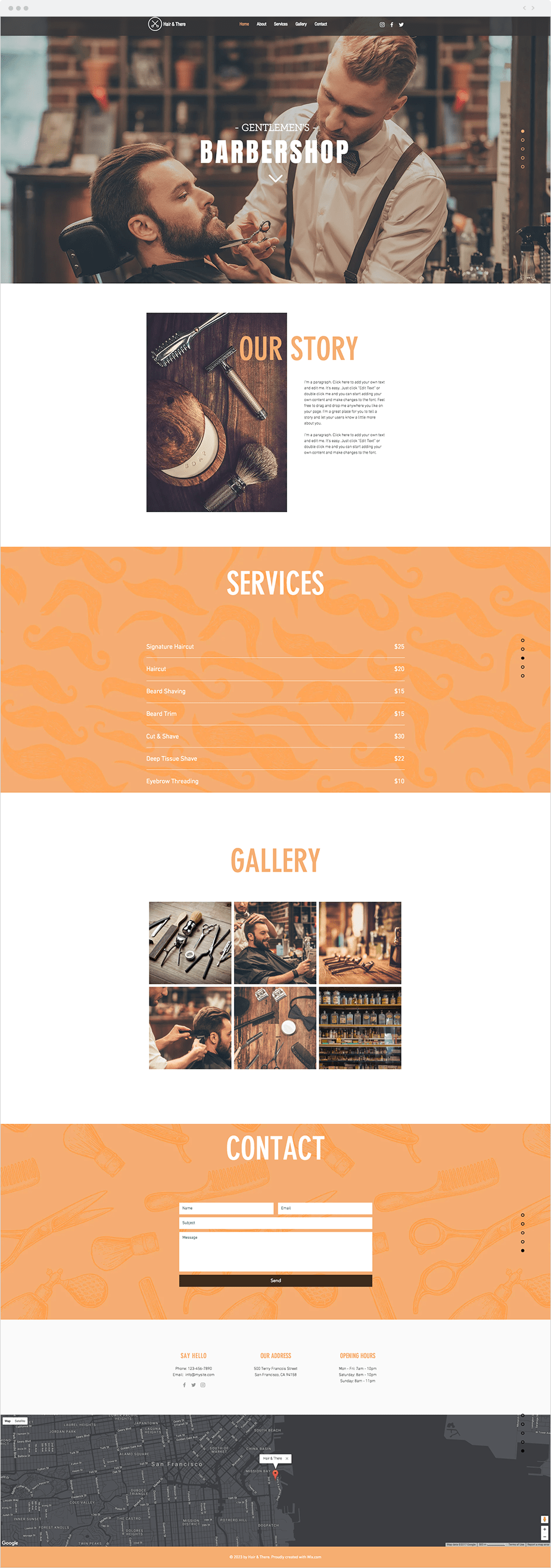 Wix Templates: Barbershop